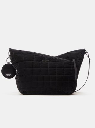 Čierna dámska prešívaná crossbody kabelka Desigual Cocoa Harry 2.0 Maxy