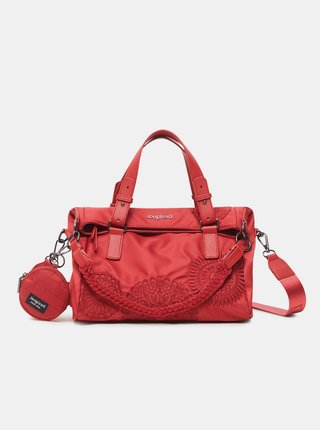 Červená dámska vzorovaná kabelka Desigual Mandrala Loverty 2.0