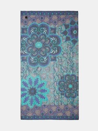 Šatky, šály pre ženy Desigual - modrá