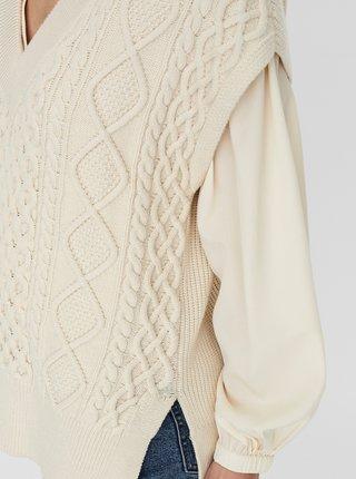 Krémová vesta AWARE by VERO MODA Row