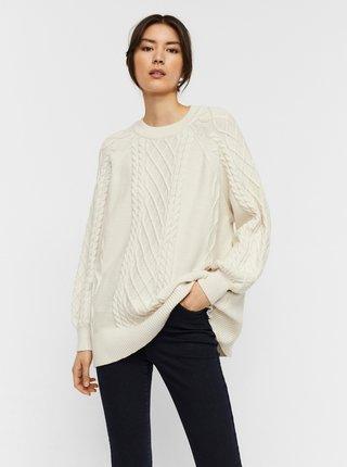 Krémový voľný sveter AWARE by VERO MODA Row
