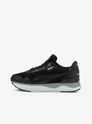 Čierne dámske kožené tenisky Puma
