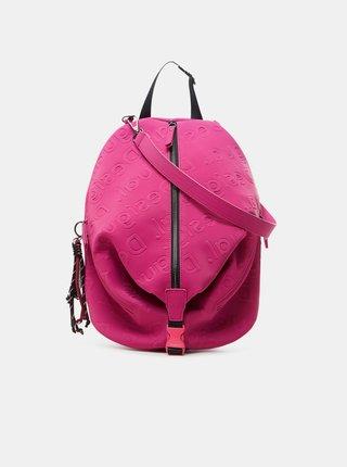 Tmavě růžový dámský vzorovaný batoh Desigual Galia Viana Mini