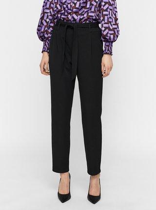 Čierne nohavice so zaväzovaním VERO MODA Laya