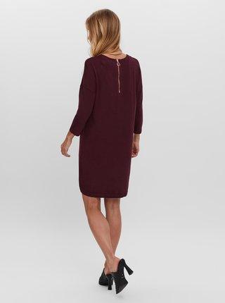 Vínové svetrové šaty VERO MODA Glory