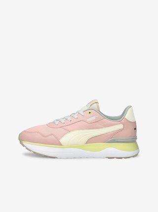 Žluto-růžové dámské tenisky Puma