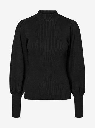 Černý žebrovaný svetr VERO MODA Willow