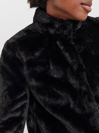 Čierna bunda z umelého kožúšku VERO MODA Thea