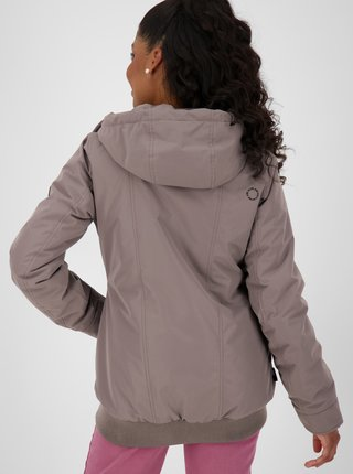 Fialová dámská bunda s kapucí Alife and Kickin