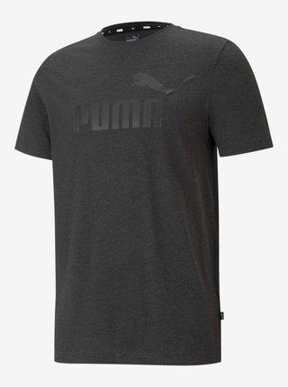 Tmavošedé pánske tričko s potlačou Puma