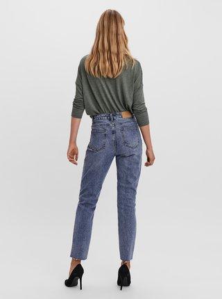 Modré straight fit džíny VERO MODA Brenda