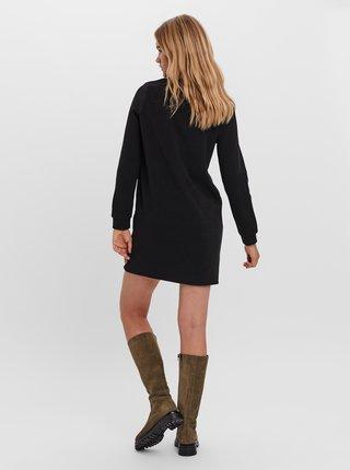 Černé mikinové šaty VERO MODA Kammie