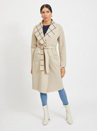 Béžový lehký oboustranný kabát VILA Juice
