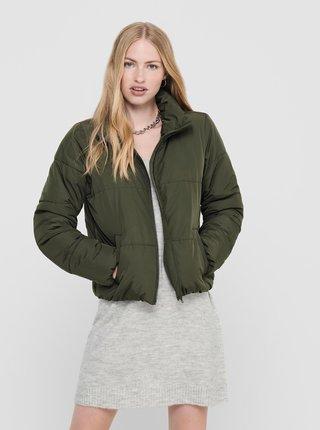 Tmavozelená zimná prešívaná bunda Jacqueline de Yong Erica