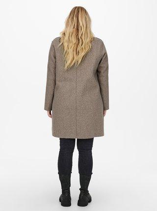 Hnědý lehký kabát ONLY CARMAKOMA Carrie