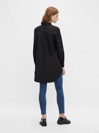 Čierna dlhá košeľa Pieces Noma