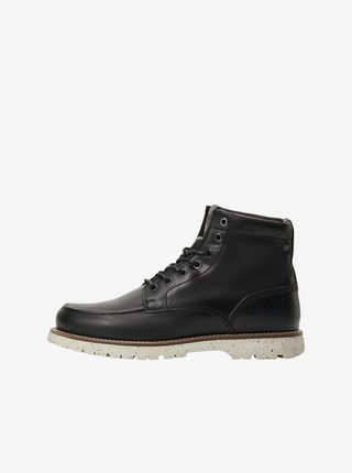 Čierne členkové topánky Jack & Jones Lucas