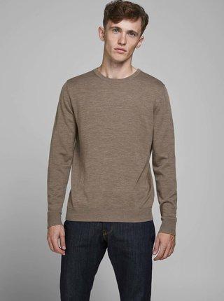 Hnědý vlněný svetr Jack & Jones Mark