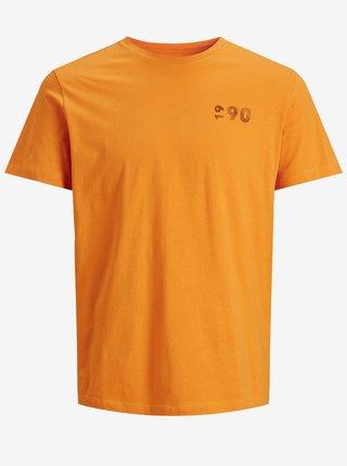 Oranžové tričko Jack & Jones Limits