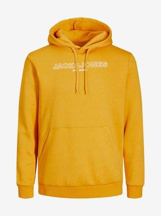 Oranžová mikina s kapucí Jack & Jones Bank