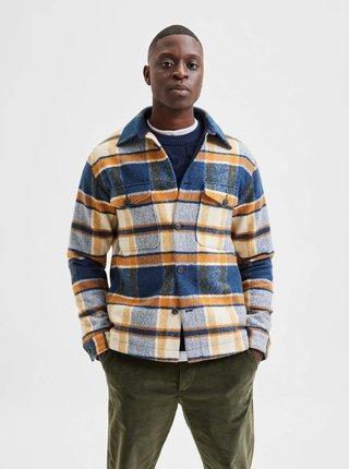 Ľahké bundy pre mužov Selected Homme - modrá, oranžová