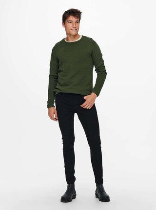 Kaki basic sveter ONLY & SONS Panter