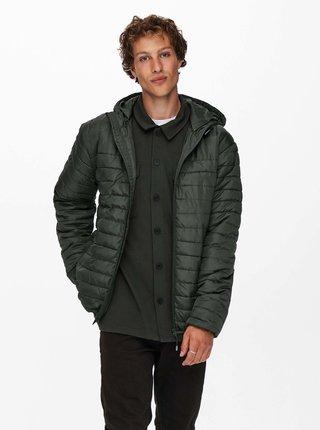 Tmavě zelená prošívaná bunda ONLY & SONS Paul