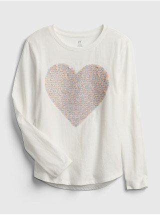 Bílé holčičí tričko interactive graphic t-shirttričko interactive graphic t-