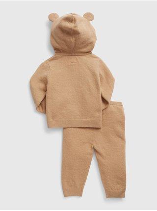 Hnědá klučičí souprava súprava hoodie sweater hoodie sweater