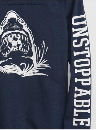 Modré klučičí tričko žralok