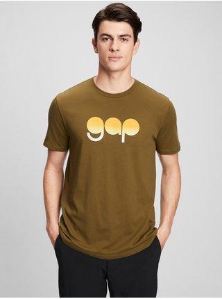 Zelené pánské tričko GAP Logo gradient t-shirt