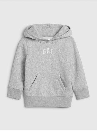Šedá klučičí mikina GAP Logo hoodie sweatshirt