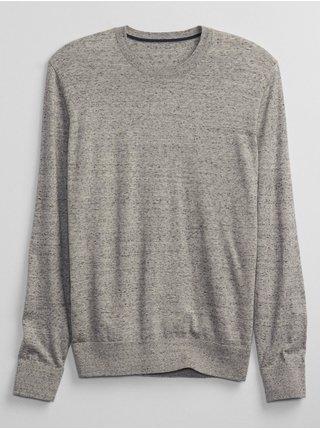 Šedý pánský svetr GAP everyday crewneck sweater
