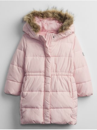 Šedá holčičí bunda s kapucí GAP