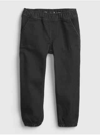 Černé klučičí džíny GAP džinsy black denim joggers