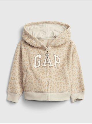 Béžová holčičí mikina GAP Logo profleece active top