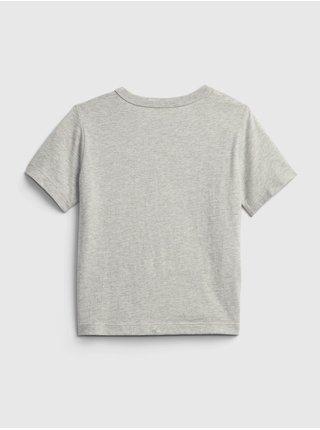 Šedé klučičí tričko GAP play time graphic t-shirt