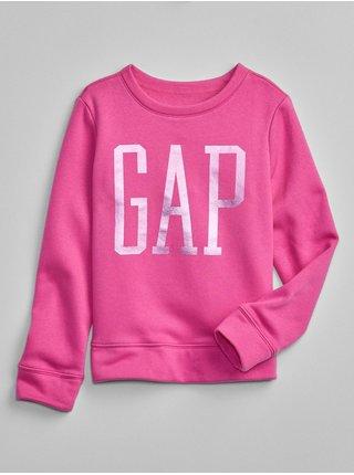 Růžová holčičí mikina GAP Logo