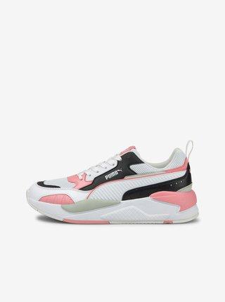 Růžovo-bílé dámské tenisky Puma