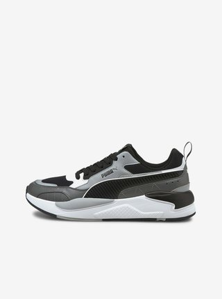 Černo-šedé pánské tenisky Puma