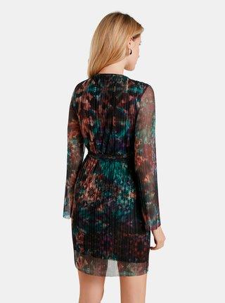 Černé vzorované šaty Desigual Baker Street