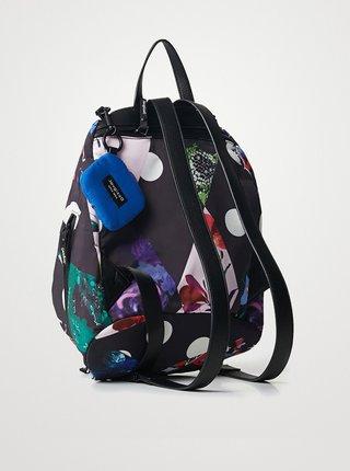 Černý dámský květovaný batoh Desigual Rombos Viana Mini