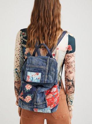 Modrý dámsky kvetovaný batoh Desigual Beta Patch Loen
