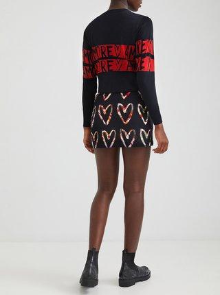 Čierna vzorovaná sukňa Desigual Vincas