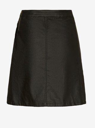 Černá koženková sukně Noisy May Peri