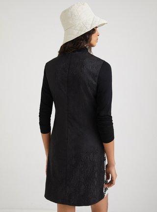 Čierne vzorované šaty Desigual Hamburgo