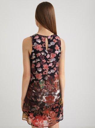 Vínovo-černé květované šaty Desigual Dalia