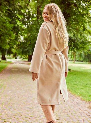 Béžový kabát ONLY CARMAKOMA Emma
