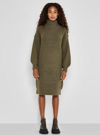 Kaki svetrové šaty Noisy May Robina