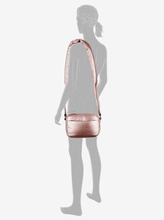 Ružová dámska metalická crossbody kabelka Tom Tailor Denim